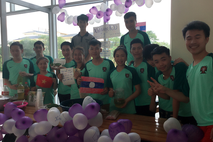 Laotian students participated in an extracurricular activity